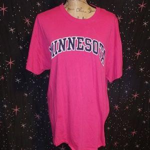 Pink Minnesota tshirt